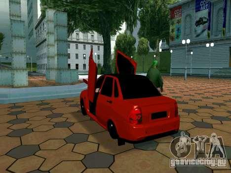 Lada Priora Lambo для GTA San Andreas вид сзади