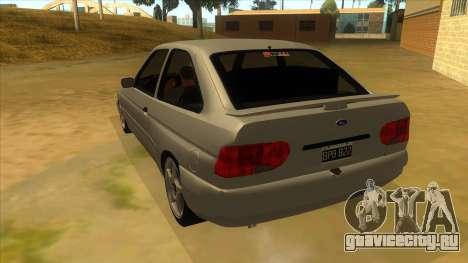 Ford Escort V2 для GTA San Andreas вид сзади слева