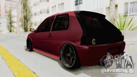 Peugeot 106 V2 RWD Greek Style для GTA San Andreas вид сзади слева