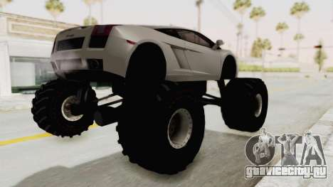 Lamborghini Gallardo 2005 Monster Truck для GTA San Andreas вид сзади слева