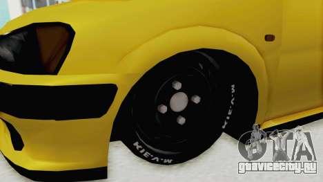 Peugeot 106 для GTA San Andreas вид сзади