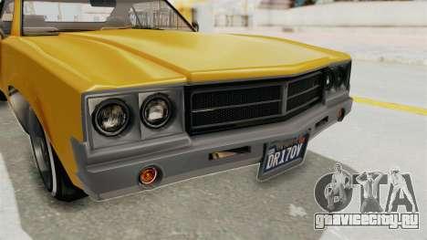GTA 5 Declasse Sabre GT2 A IVF для GTA San Andreas вид сверху