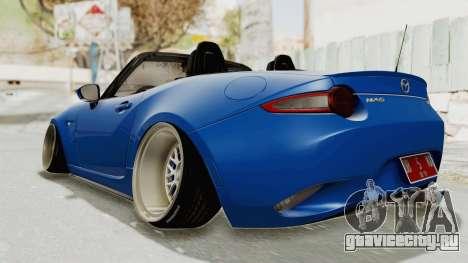 Mazda MX-5 Slammed для GTA San Andreas вид сзади слева