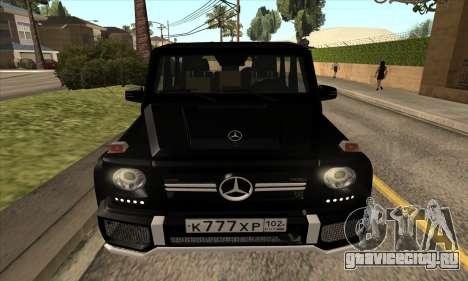 Mercedes G63 Biturbo для GTA San Andreas вид сбоку