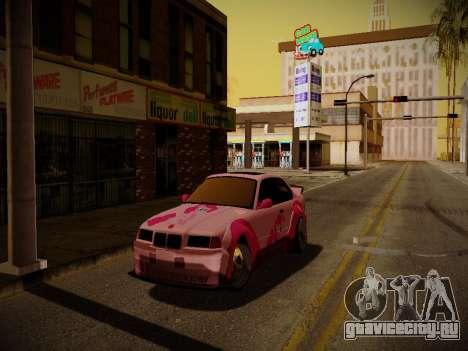 BMW M3 E36 Pinkie Pie для GTA San Andreas вид сбоку