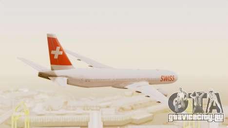 Boeing 777-300ER Swiss International Air Lines для GTA San Andreas вид справа
