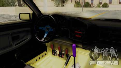 BMW M3 E36 Drift для GTA San Andreas вид изнутри