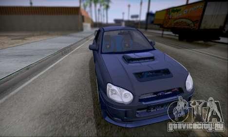 Subaru impreza WRX STi LP400 v2 для GTA San Andreas вид сзади слева