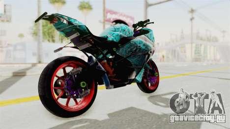 Kawasaki Ninja 250FI Stunter для GTA San Andreas вид сзади слева
