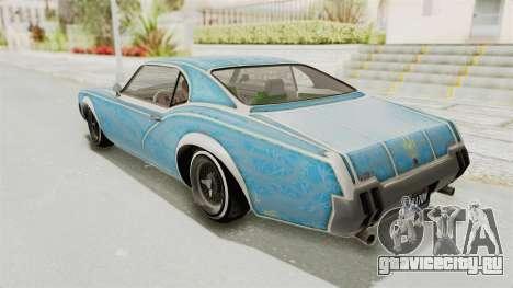 GTA 5 Declasse Sabre GT2 для GTA San Andreas колёса