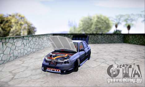 Subaru Impreza WRX STI Dark Knight для GTA San Andreas вид сзади