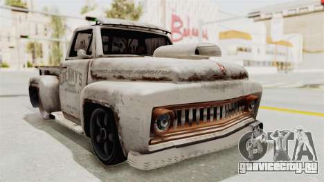 GTA 5 Slamvan Lowrider для GTA San Andreas вид сзади слева