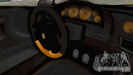 GTA 5 Pegassi Zentorno PJ для GTA San Andreas вид изнутри
