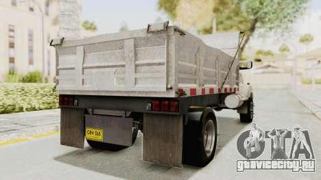 Chevrolet Kodiak Dumper Truck для GTA San Andreas вид сзади слева