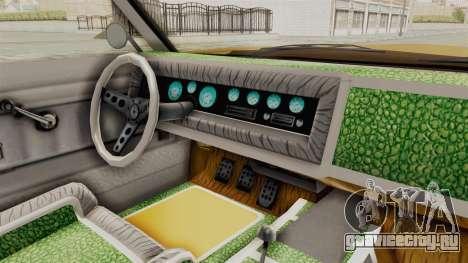 GTA 5 Declasse Sabre GT2 A IVF для GTA San Andreas вид изнутри