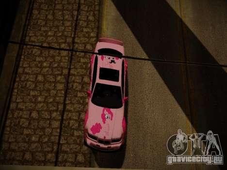 BMW M3 E36 Pinkie Pie для GTA San Andreas салон