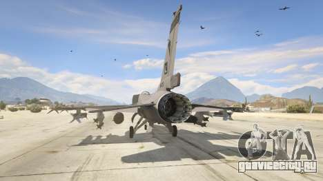 F-16C Block 52 для GTA 5 третий скриншот