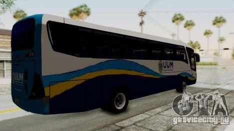Marcopolo UUM Bus для GTA San Andreas вид сзади слева