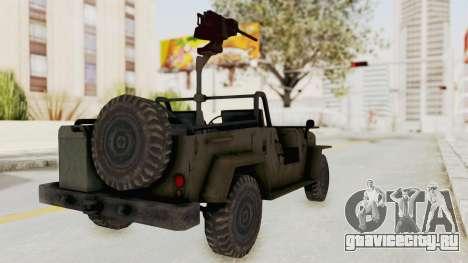 MGSV Jeep для GTA San Andreas вид сзади слева