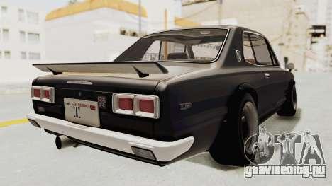Nissan Skyline KPGC10 1971 Camber для GTA San Andreas вид сзади слева
