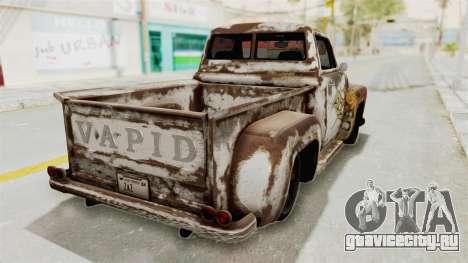 GTA 5 Slamvan Stock PJ2 для GTA San Andreas вид изнутри