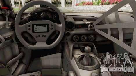 Mazda MX-5 Cup 2015 v2.0 для GTA San Andreas вид изнутри