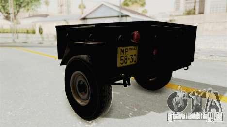 ГАЗ-704 Прицеп для GTA San Andreas вид справа