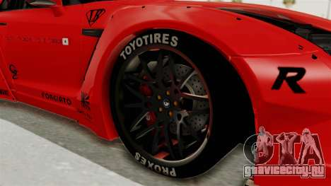 Nissan GT-R R35 Liberty Walk LB Performance v2 для GTA San Andreas вид сзади
