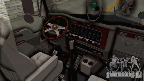 Kenworth T800 Centenario для GTA San Andreas вид изнутри