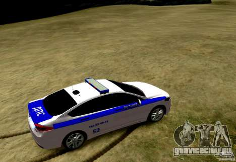 Ford Mondeo Russian Police для GTA 4 вид сзади слева
