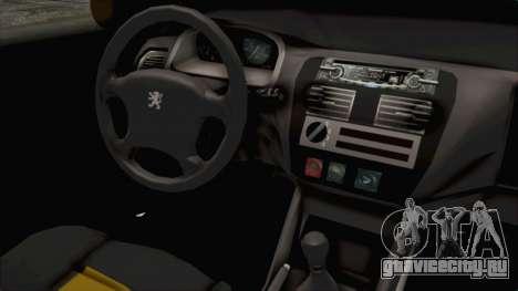 Peugeot 106 для GTA San Andreas вид изнутри
