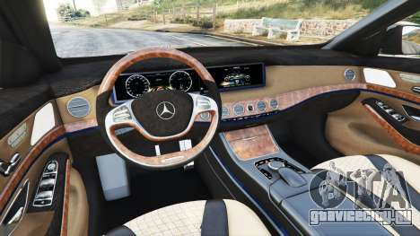 Mercedes-Benz S500 (W222) [yokohama] v2.1 для GTA 5 вид спереди справа