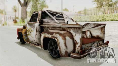 GTA 5 Slamvan Race PJ2 для GTA San Andreas вид изнутри