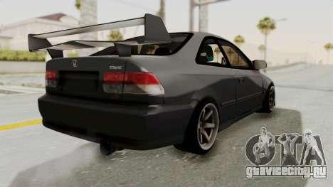 Honda Civic 1995 FnF для GTA San Andreas вид сзади слева