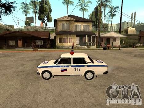 VAZ 2107 DPS для GTA San Andreas вид слева