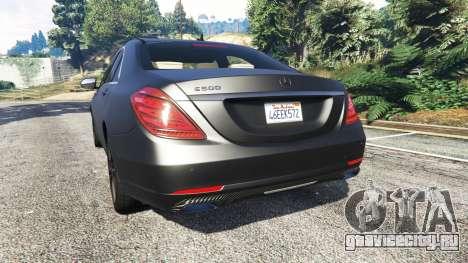 Mercedes-Benz S500 (W222) [michelin] v2.1 для GTA 5