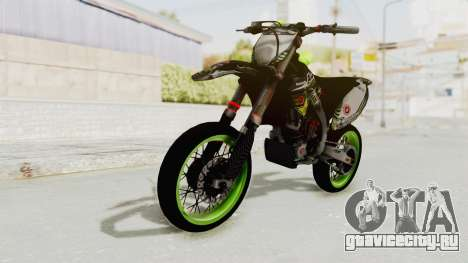 Kawasaki KX 125 Supermoto для GTA San Andreas вид справа