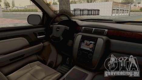 GMC Sierra 2010 для GTA San Andreas вид изнутри
