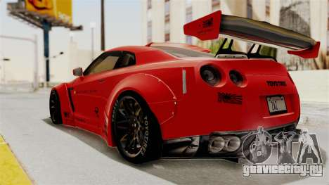 Nissan GT-R R35 Liberty Walk LB Performance v2 для GTA San Andreas вид слева