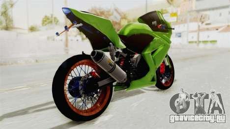 Kawasaki Ninja 250R Asian Style для GTA San Andreas вид слева
