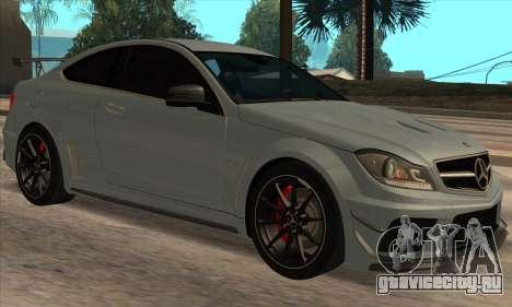 Mercedes-Benz C63 AMG Black-series для GTA San Andreas
