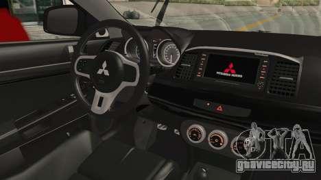 Mitsubishi Lancer Evolution X Ken Kaneki Itasha для GTA San Andreas вид изнутри