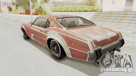 GTA 5 Declasse Sabre GT2 для GTA San Andreas салон