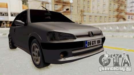 Peugeot 106 GTI Stock для GTA San Andreas