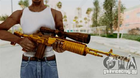 M14EBR Gold для GTA San Andreas третий скриншот