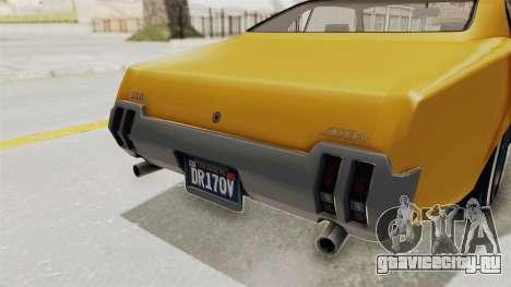 GTA 5 Declasse Sabre GT2 A IVF для GTA San Andreas вид снизу