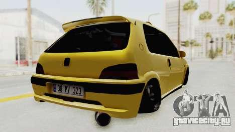 Peugeot 106 для GTA San Andreas вид слева