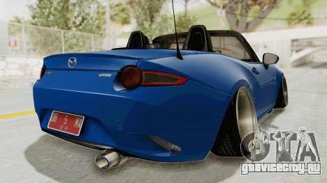 Mazda MX-5 Slammed для GTA San Andreas вид слева