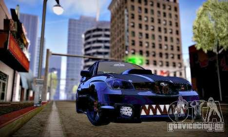 Subaru Impreza WRX STI Dark Knight для GTA San Andreas вид изнутри