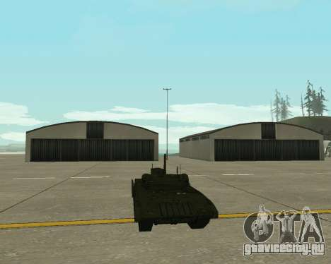 Т-14 Армата для GTA San Andreas вид изнутри